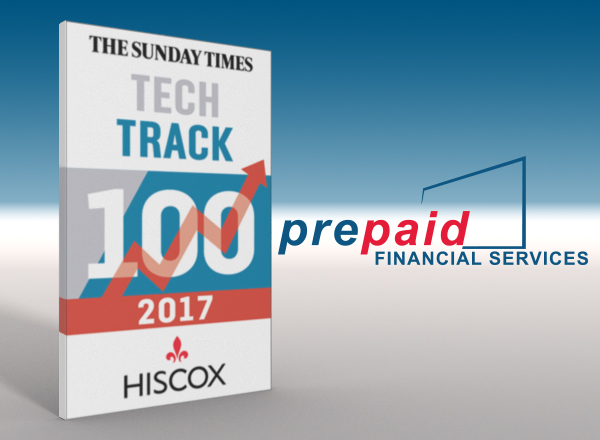 PFS is Ranked in The Sunday Times Hiscox Tech Track 100 2017 for the 5th Year in a Row - The Only Company on the List to Do So