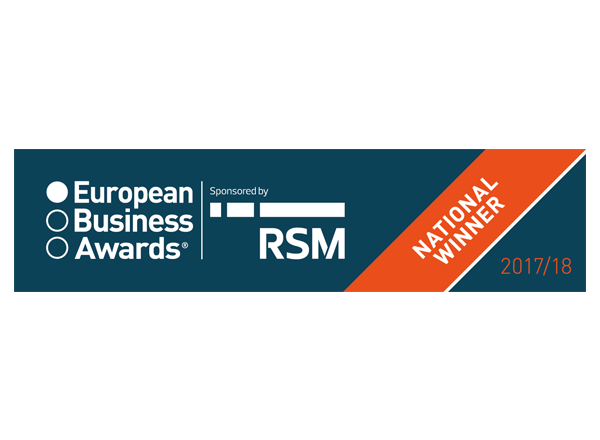 European Business Awards Name PFS UK Digital Technology Winner